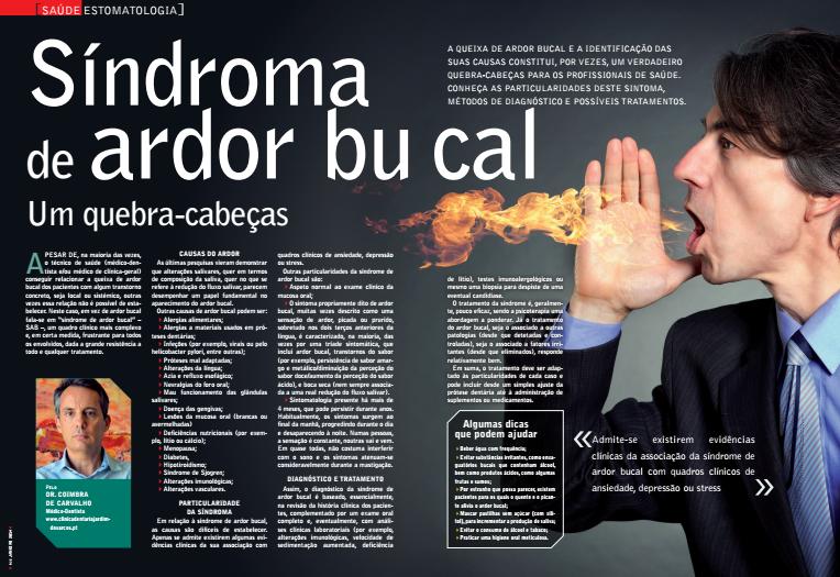 Ardor Bucal, artigo de Imprensa da Clínica Dentária Jardim dos Arcos