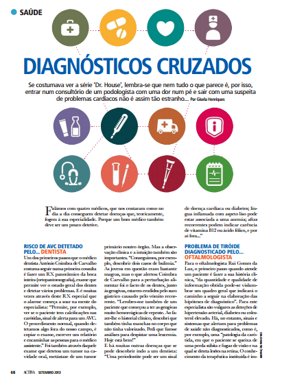 Diagnosticos Cruzados, artigo de Imprensa da Clínica Dentária Jardim dos Arcos