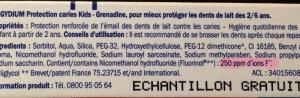 Concentração flúor nas pastas dentífricas pediátricas